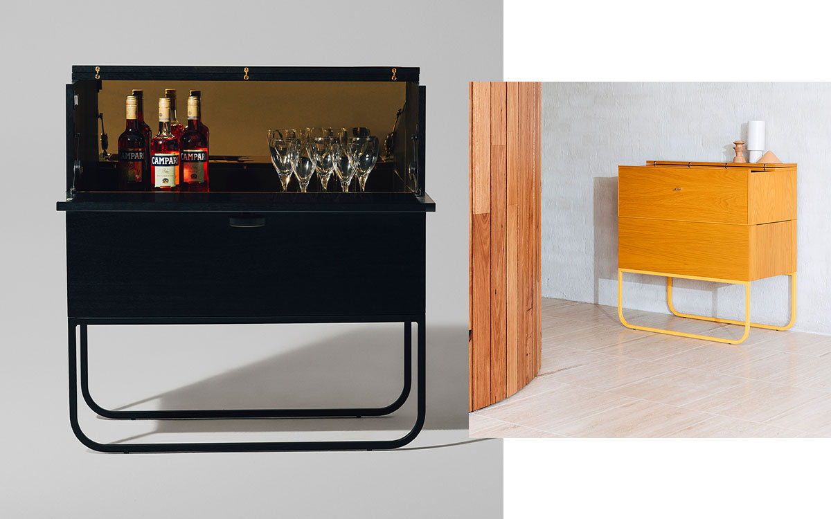 holiday gift ideas cocktails bartender barcart