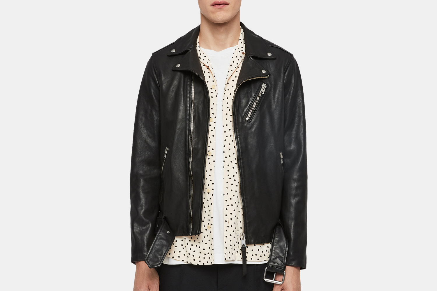 AllSaints Men's Leather Jackets on Sale for Black Friday