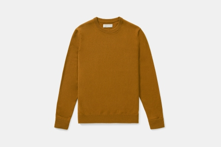 Everlane Grade-A Cashmere Crew in Brass