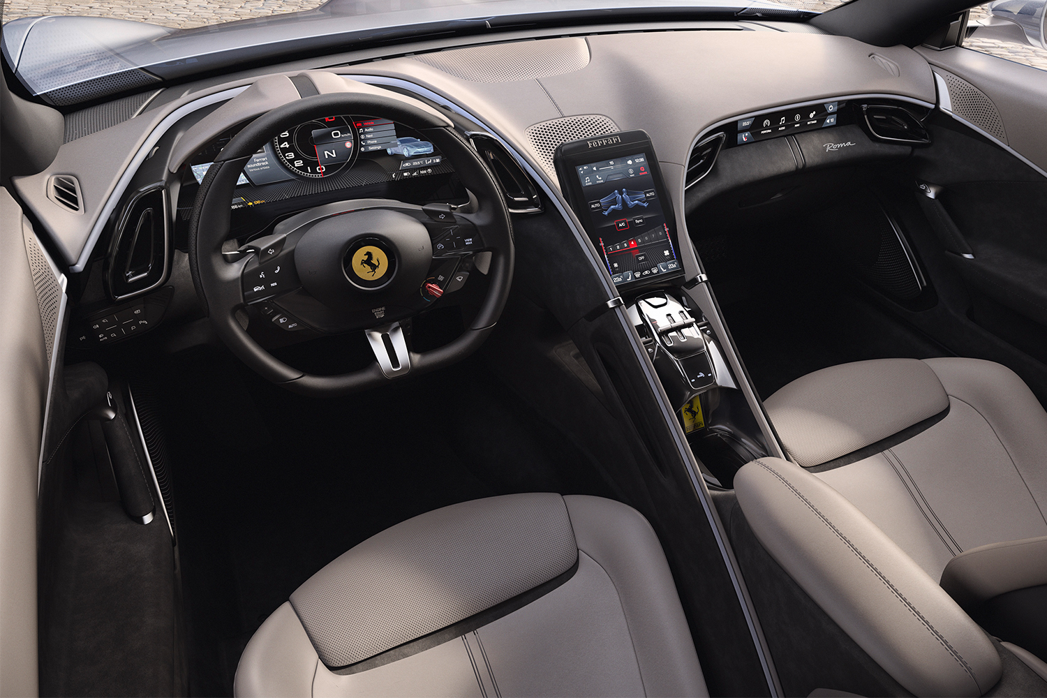 Ferrari Roma coupe sports car interior
