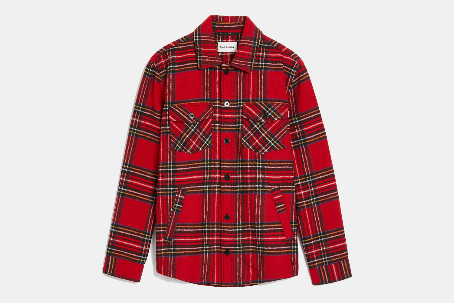 Frank And Oak Men's Heavy Checked Flannel Overshirt Sale