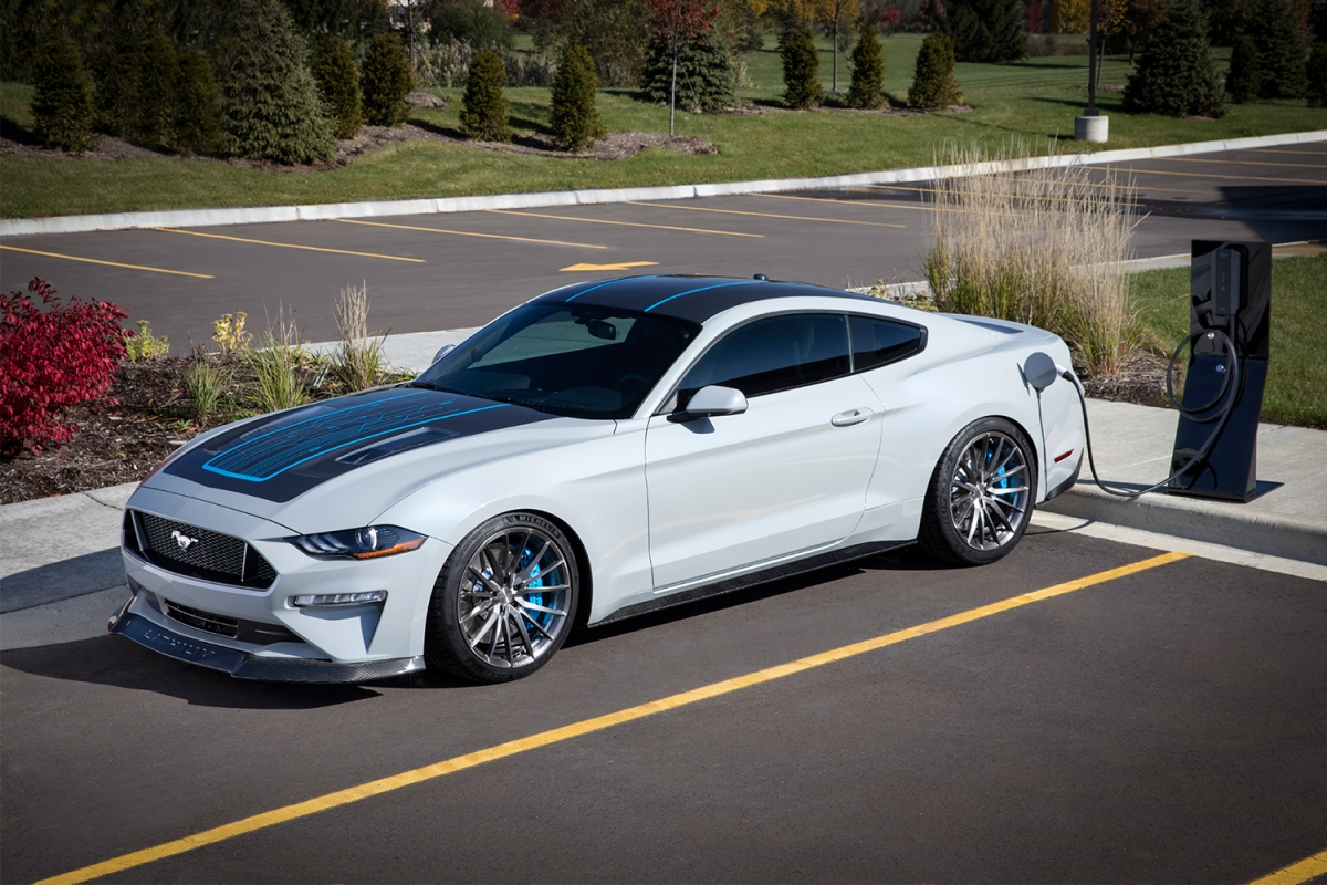 Ford Webasto Mustang Lithium Electric Vehicle With a Manual Transmission