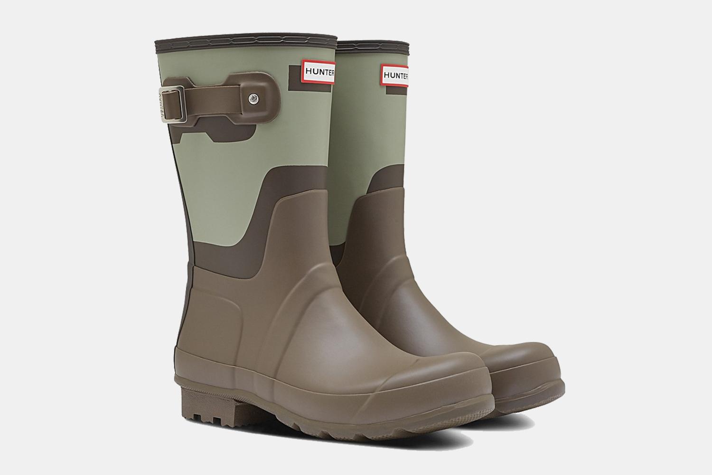 Hunter Short Shadow Print Waterproof Rain Boots Sale