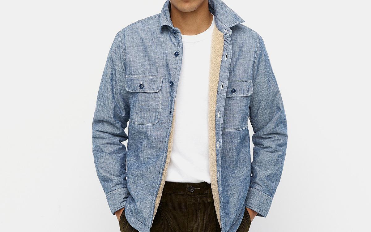 J.Crew Sherpa Lining Shirt-Jacket