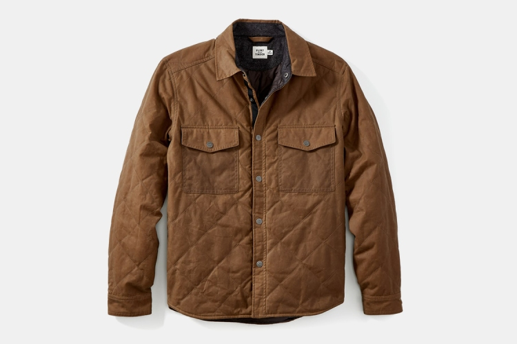 Quilted Waxed Shirt Jacket