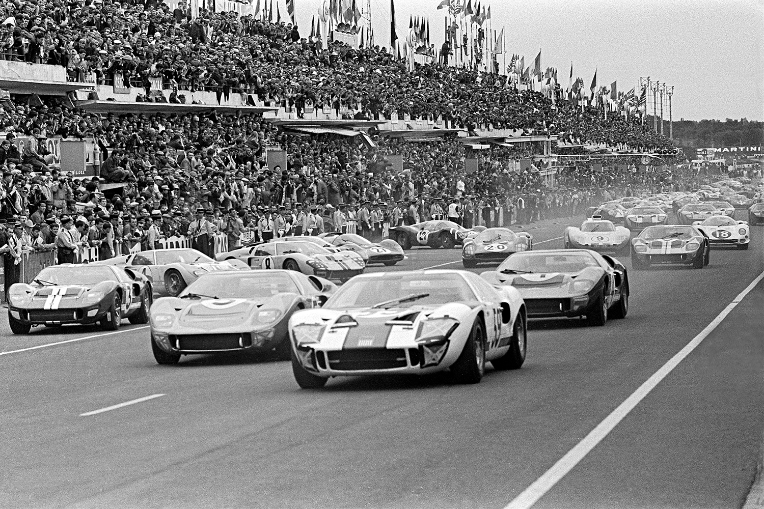 1966 24 Hours of Le Mans Race in Ford v Ferrari