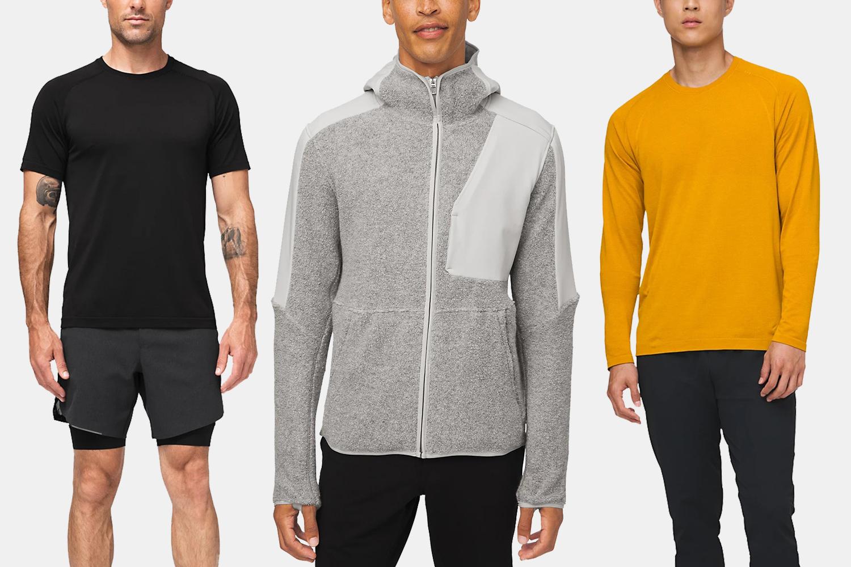 Lululemon men's workout shirts, shorts and jackets
