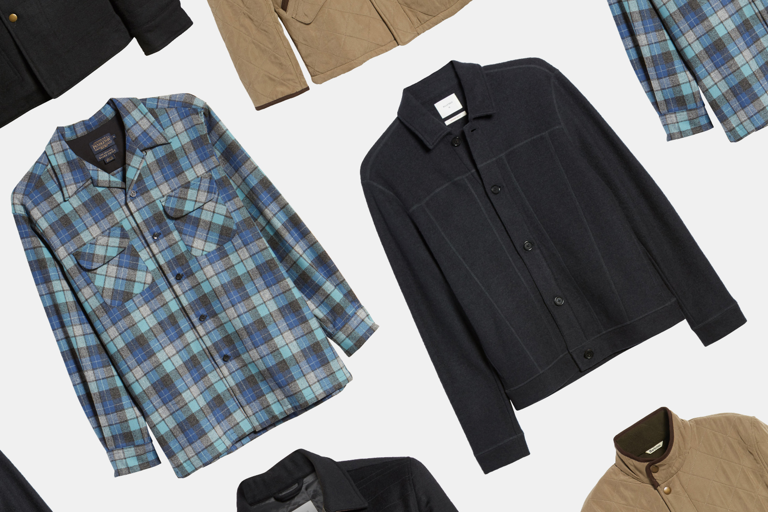 Nordstrom menswear shirts and jackets