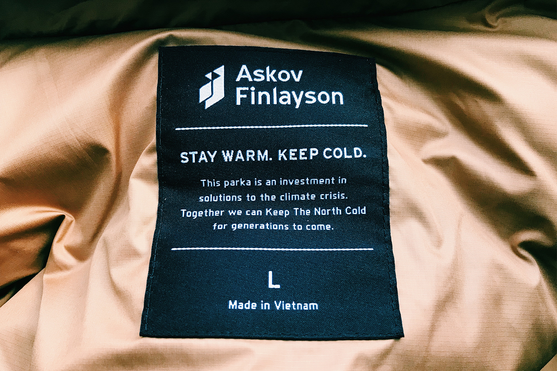 Askov Finlayson climate positive winter parka