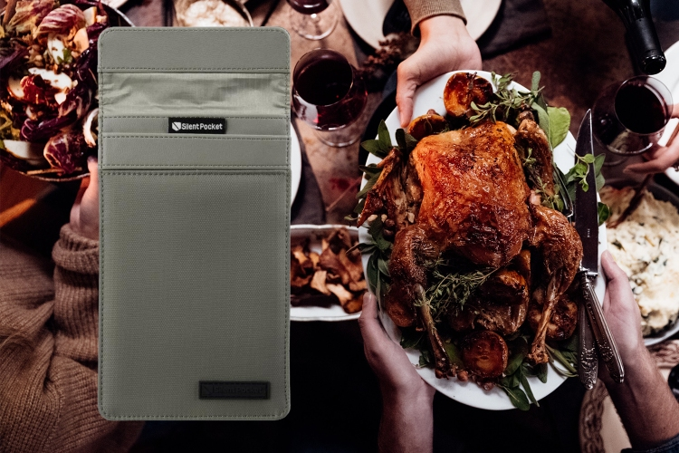 Thanksgiving dinner and Faraday pouch