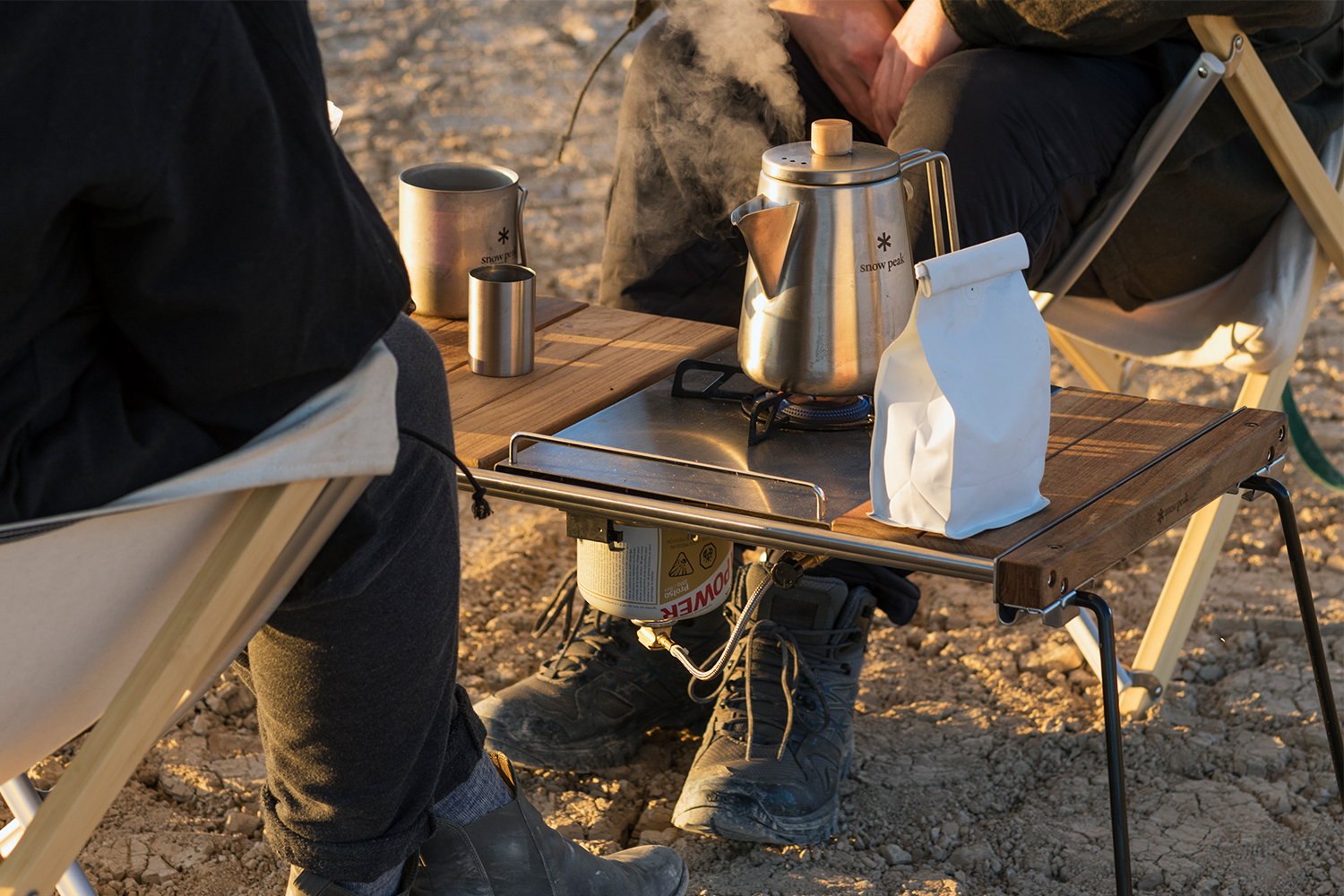 Snow Peak IGT Table and camping gear