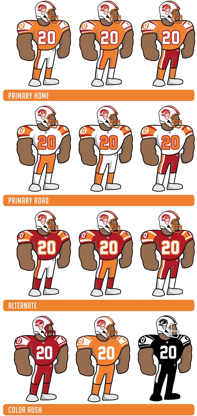 uniwatch tampa bay buccaneers redesign contest fesmire