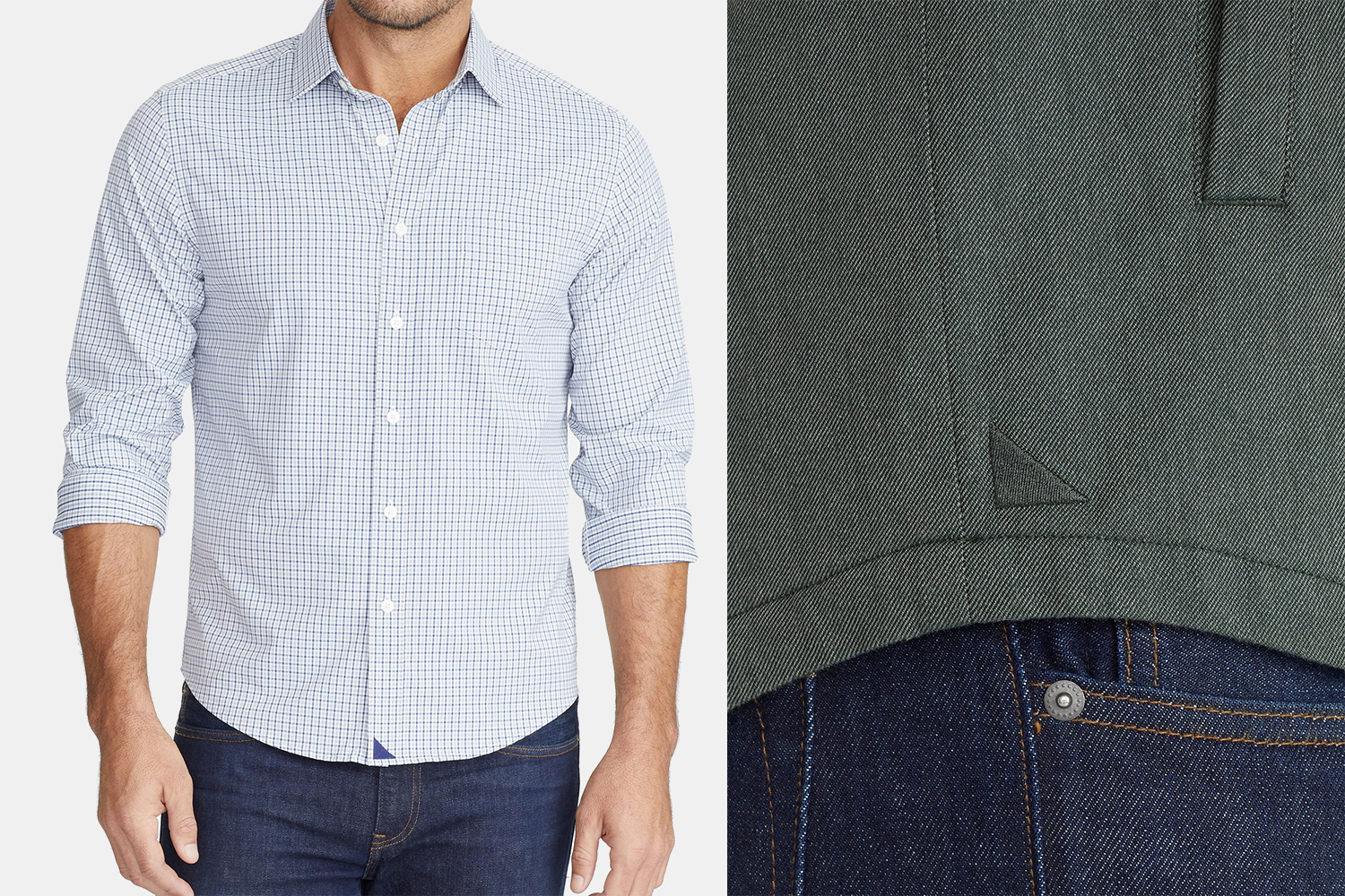 Untuckit Performance+ Beaumont Shirt and Flannel-Lined Shirt Jacket