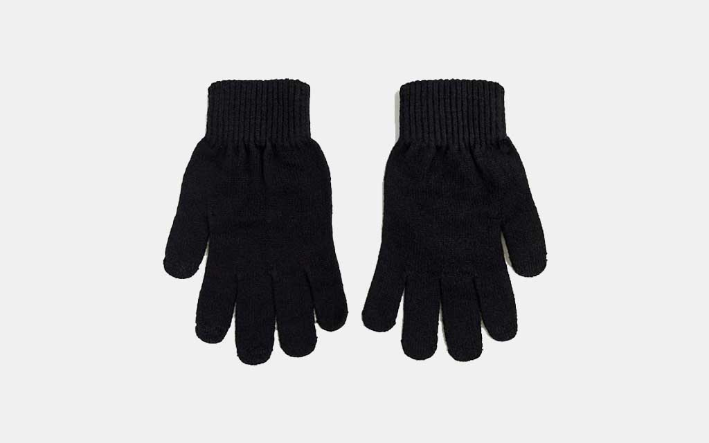 ASOS Recycled Polyester Touchscreen Gloves