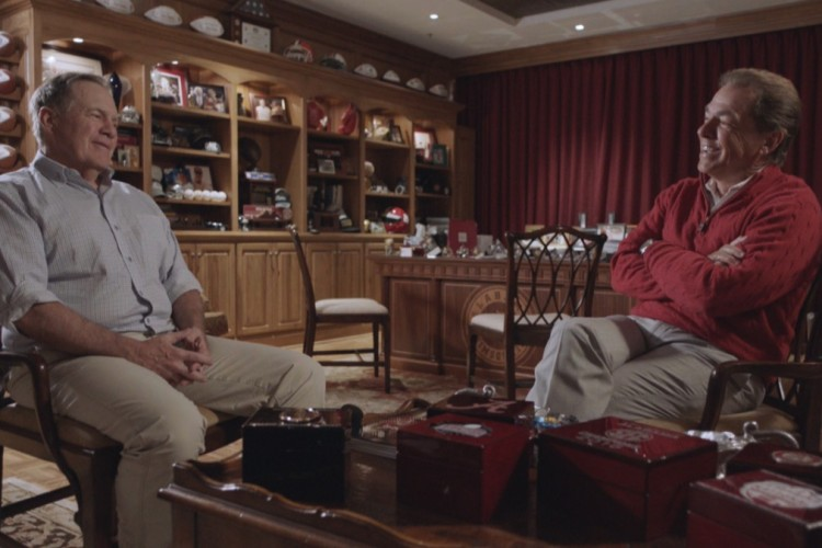 Bill Belichick and Nick Saban's football friendship