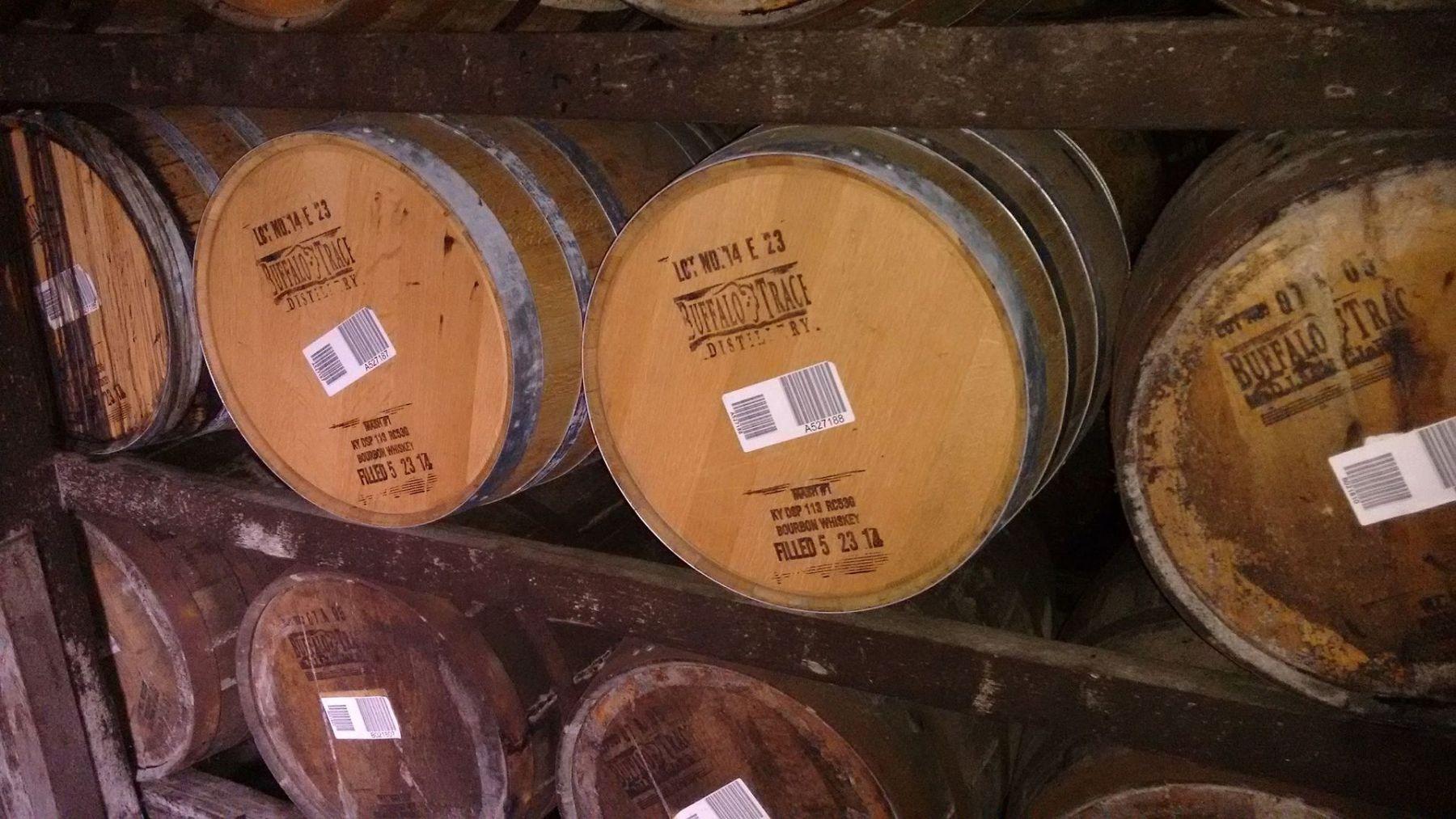 Buffalo Trace barrels
