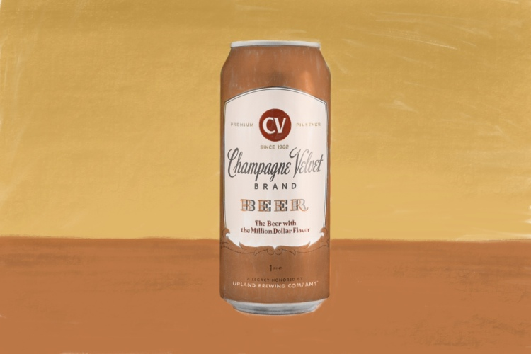 Champagne Velvet cheap beer illustration shitty beer