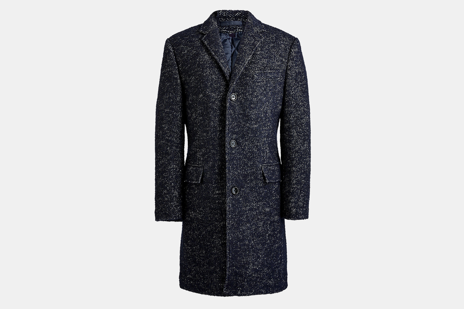 J.Crew Factory Men's Wool-Blend Herringbone Thompson Topcoat Discount