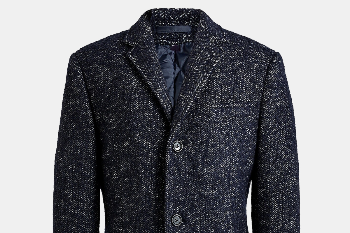 J.Crew Factory herringbone topcoat