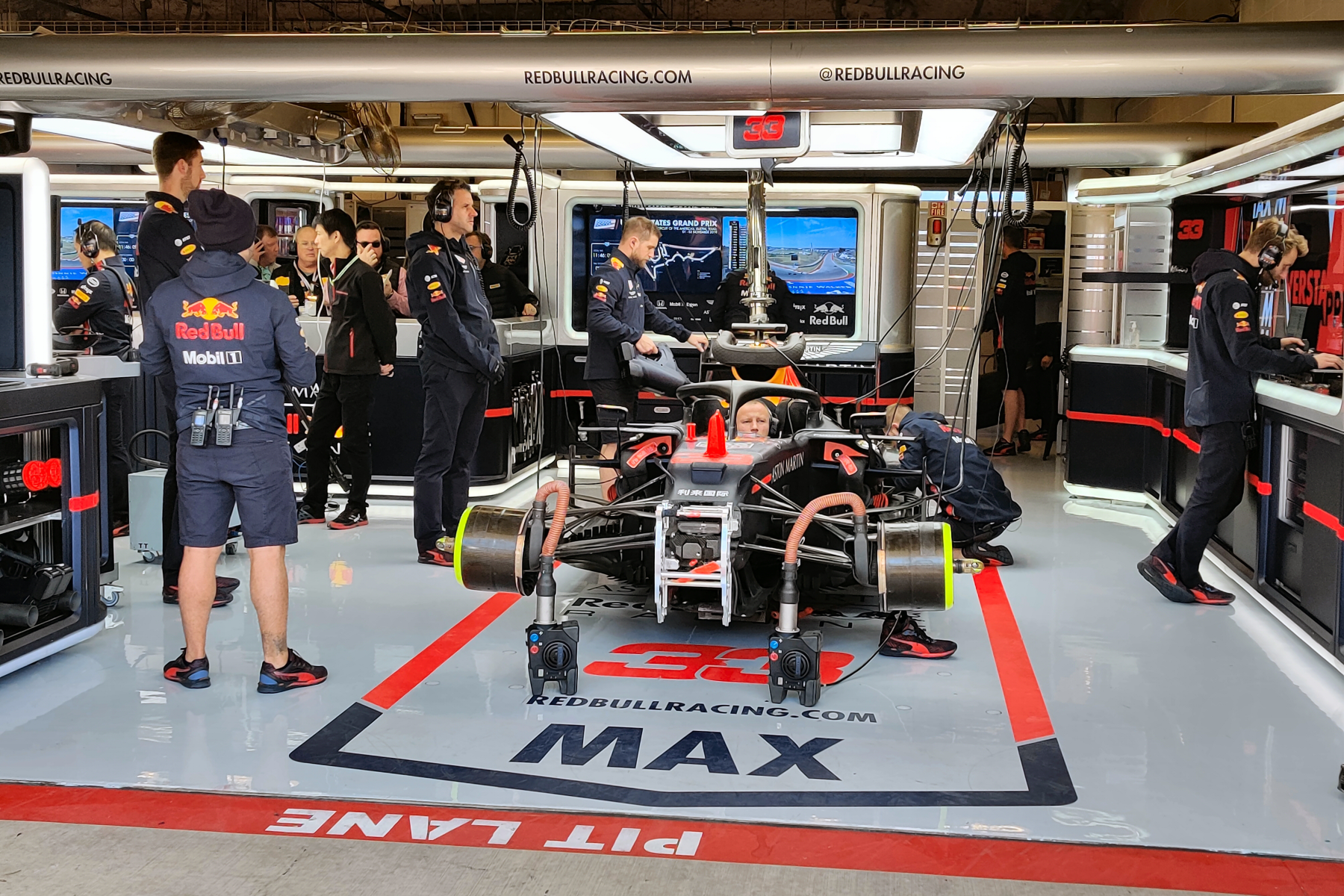 red bull race team circuit of the americas pit lane