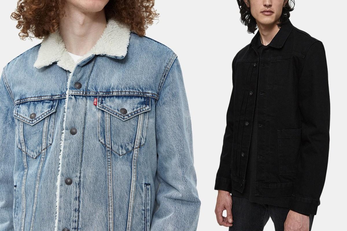 Levi's men's denim trucker jackets discounts