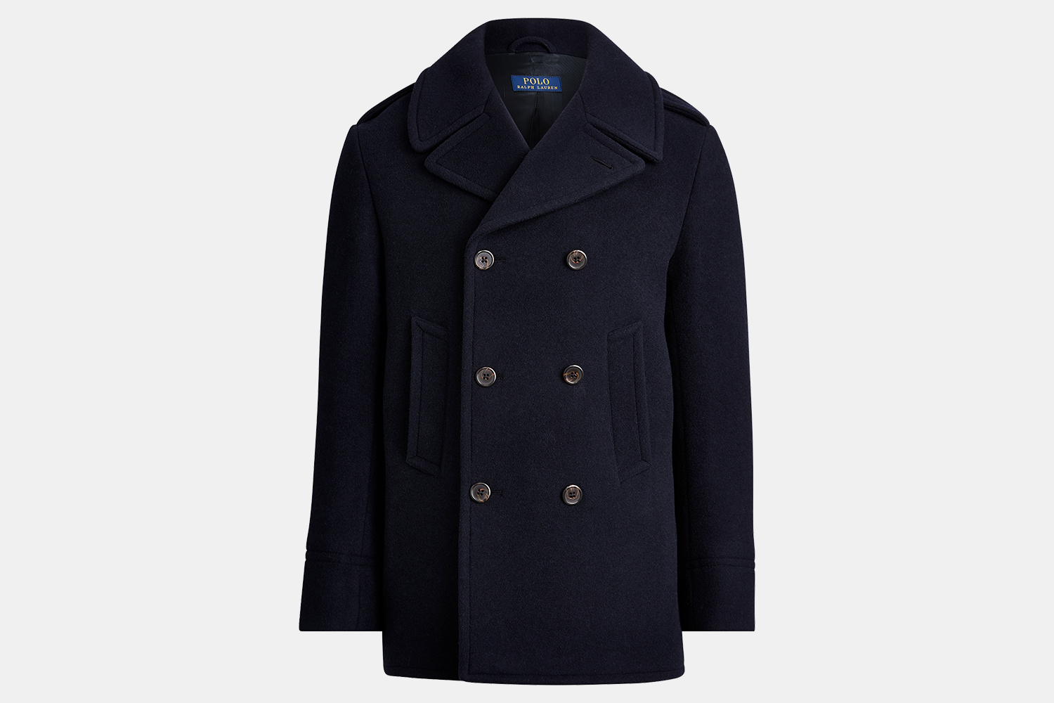 Ralph Lauren Polo Wool-Blend Peacoat