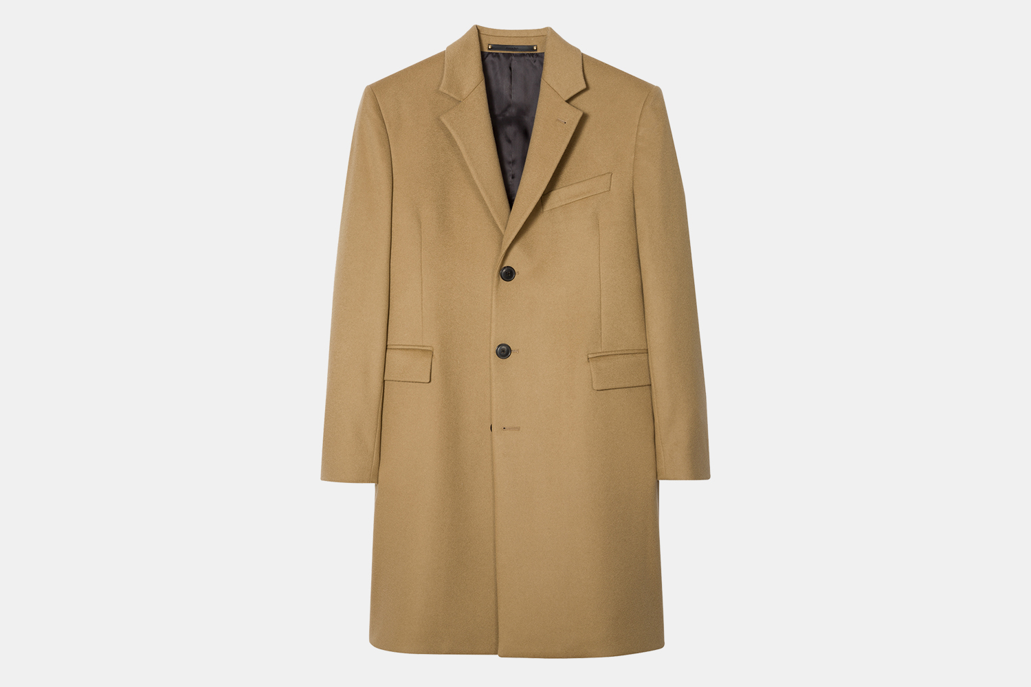 Paul Smith Men's Sand Wool-Cashmere Overcoat Discount