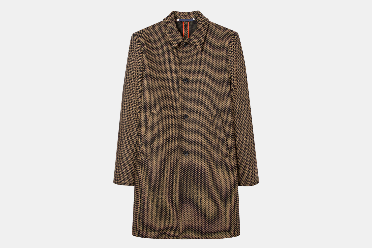 Paul Smith Recycled Wool-Blend Zig-Zag Pattern Overcoat Sale