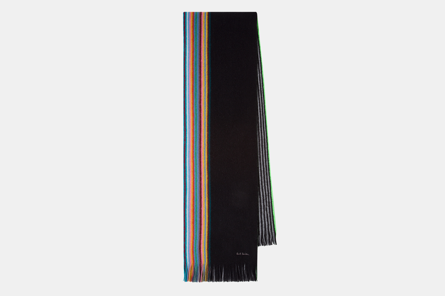 Paul Smith Multi-Color Stripe Wool Scarf Discount