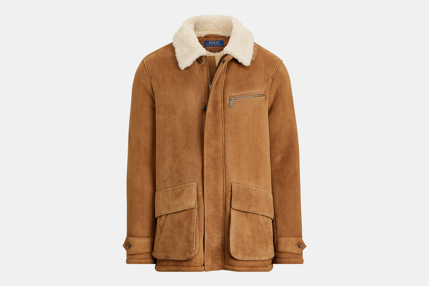 Ralph Lauren Men's Shearling Car Coat