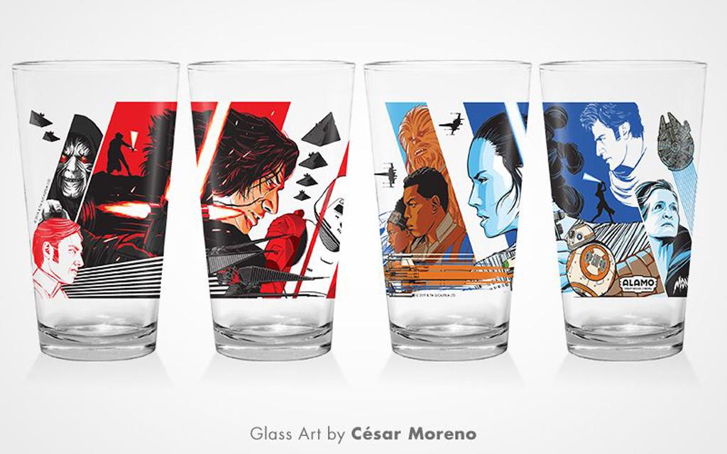 Alamo Drafthouse x Mondo Star Wars Pint Glass Set