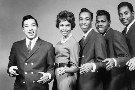 Claudette Robinson and the rest of the Miracles