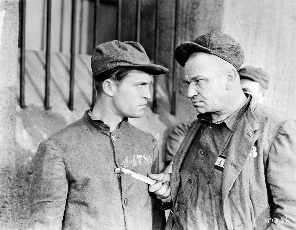 """Chester Morris and Wallace Beery in """"The Big House"""""""
