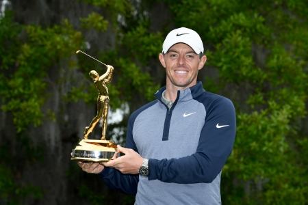 Rory McIlroy golf trophy