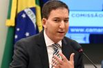 US journalist Glenn Greenwald, founder and editor of The Intercept website gestures during a hearing at the Lower House's Human Rights Commission in Brasilia, Brazil, on June 25, 2019.  (Photo by EVARISTO SA / AFP)
