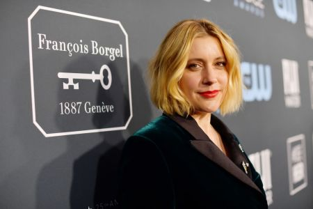 Greta Gerwig attends the 25th Annual Critics' Choice Awards at Barker Hangar on January 12, 2020 in Santa Monica, California. (Photo by Matt Winkelmeyer/Getty Images for Critics Choice Association)