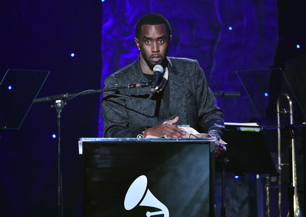 """Sean """"Diddy"""" Combs speaks onstage during the Pre-GRAMMY Gala and GRAMMY Salute to Industry Icons Honoring Sean """"Diddy"""" Combs on January 25, 2020 in Beverly Hills, California. (Photo by Gregg DeGuire/Getty Images for The Recording Academy)"""