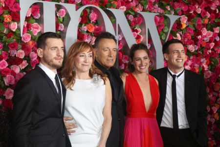 Sam Springsteen, Patti Scialfa, Bruce Springsteen, Jessica Springsteen and Evan Springsteen attend the 72nd Annual Tony Awards at Radio City Music Hall on June 10, 2018 in New York City. (Photo by Bruce Glikas/FilmMagic)