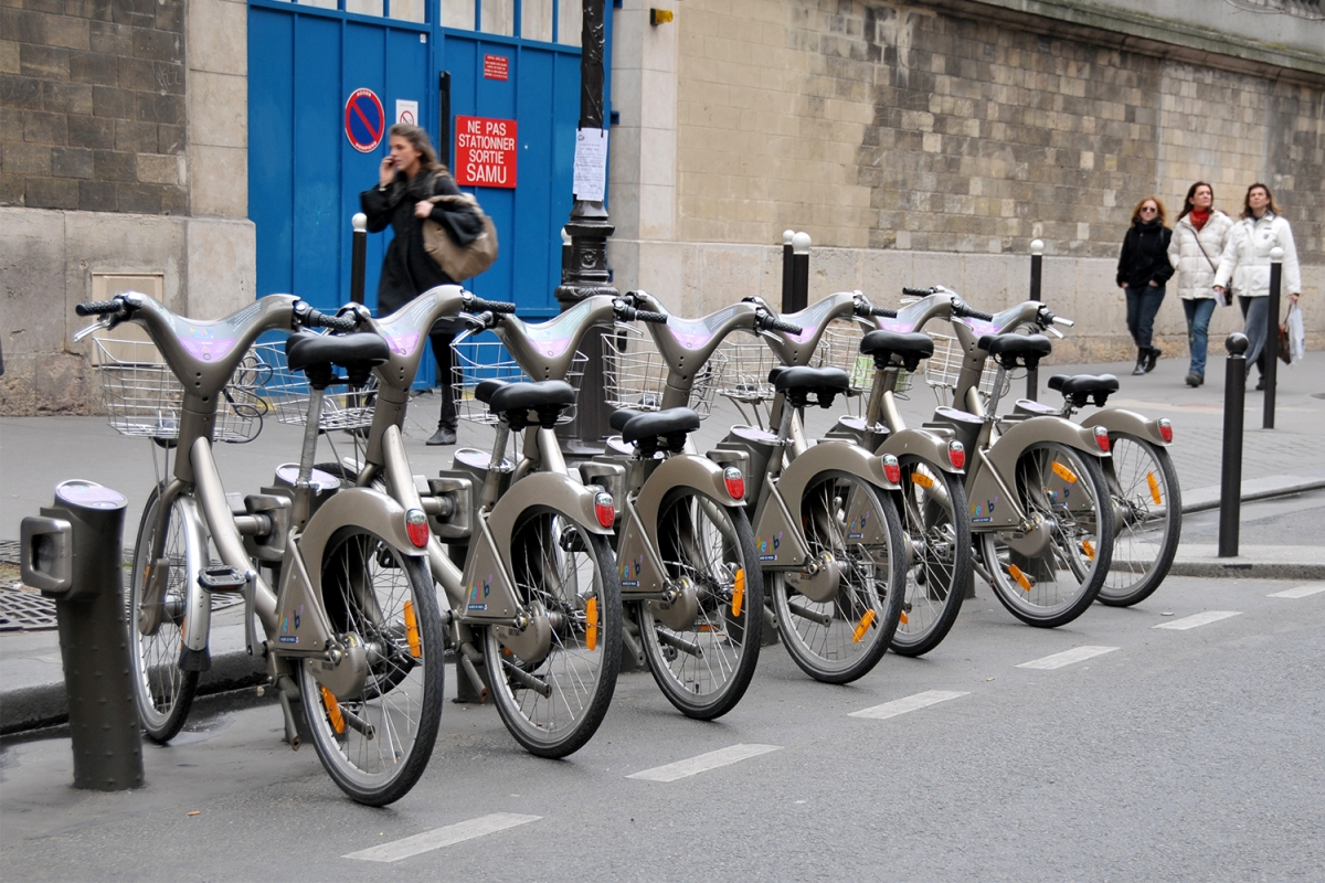 Bikes in Paris, France
