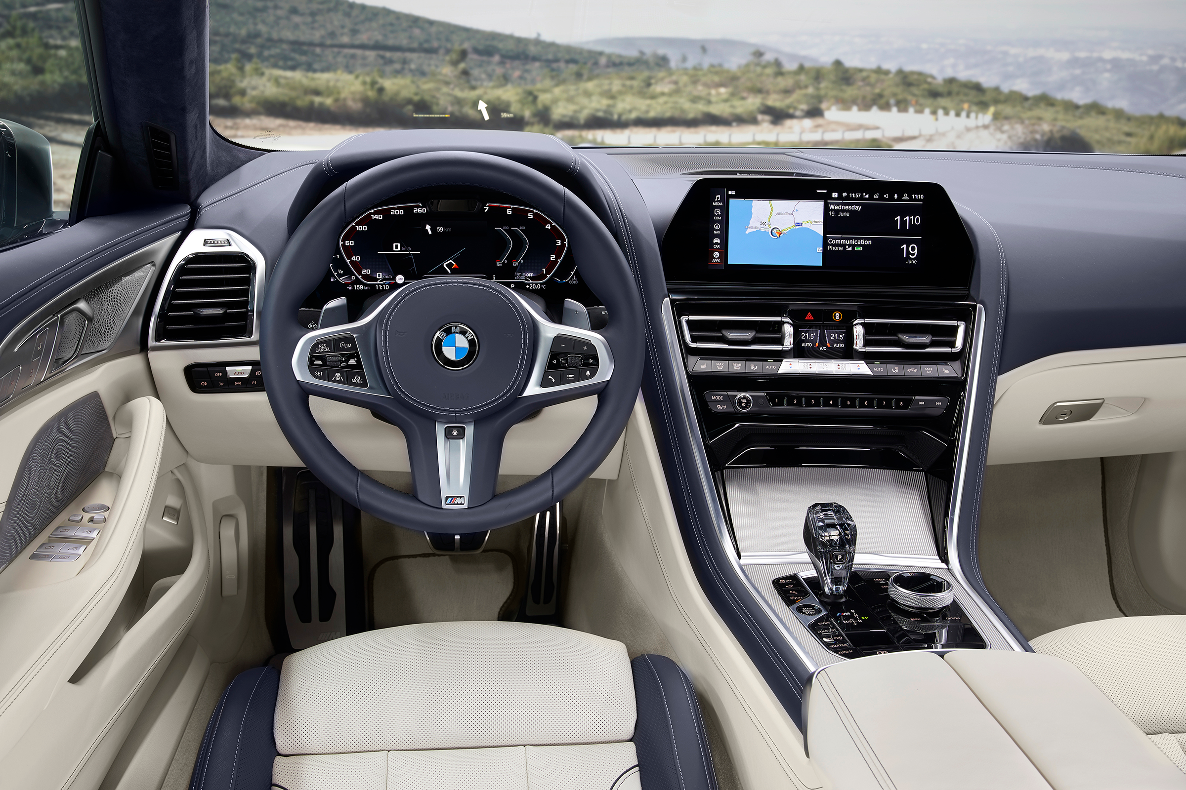 bmw 2020 m850i gran coupe dashboard