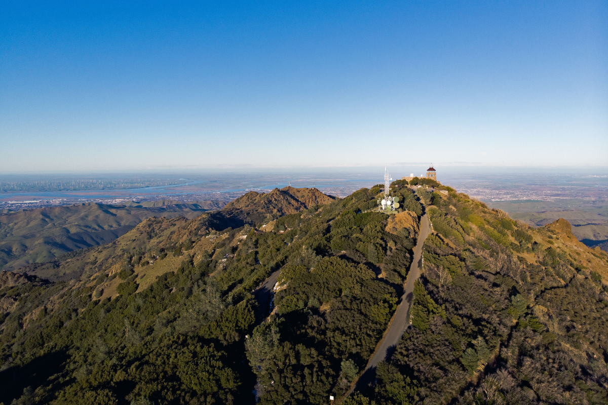 A bird's-eye view of Mt. Diablo, one of the Bay's most accessible year-round hikes