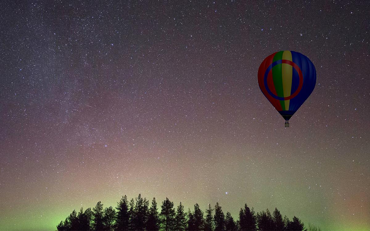 Northern Lights Hot Air Balloon