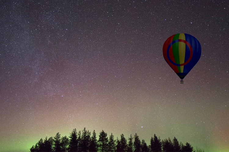 Northern Lights Hot Air Balloon