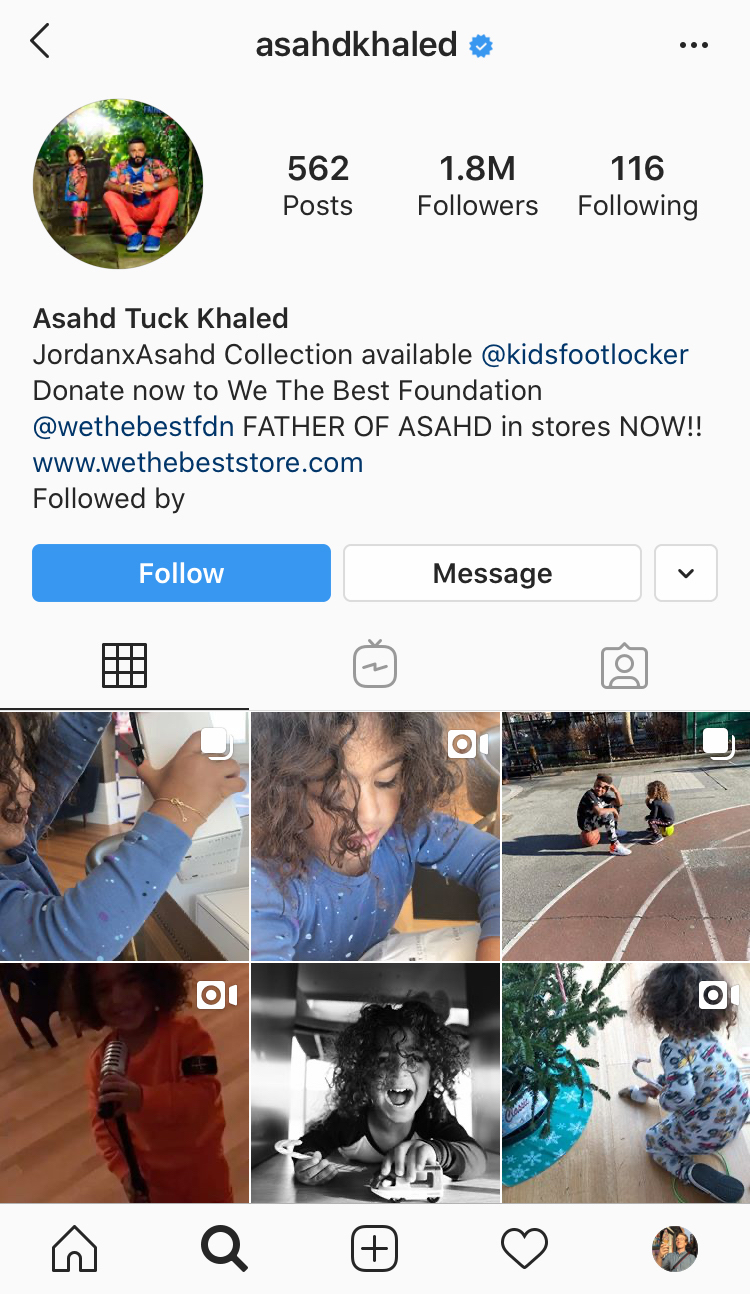 Asahd Khaled Instagram Screenshot