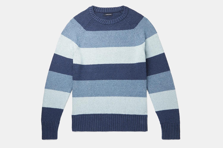 J.Crew Striped Cotton-Blend Sweater