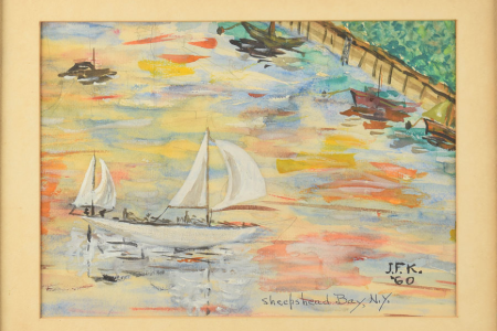 John F. Kennedy's Paintings of Brooklyn Crossing the Auction Block