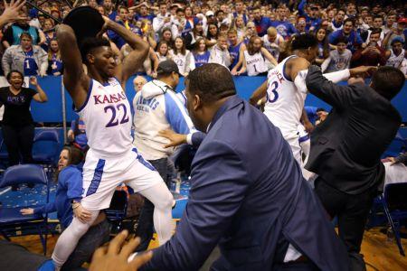 Watch Brawl Break Out at End of Kansas State-Kansas Basketball Game