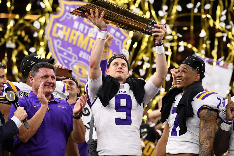 Joe Burrow Leads LSU Over Clemson to Capture Title
