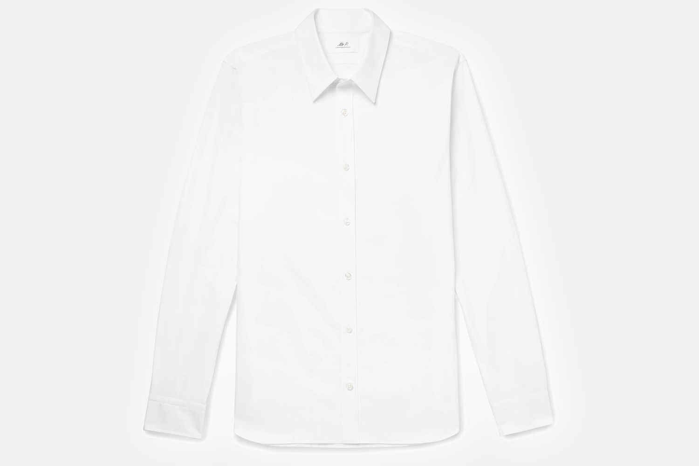 Mr P. Slim-Fit Cotton-Poplin Shirt