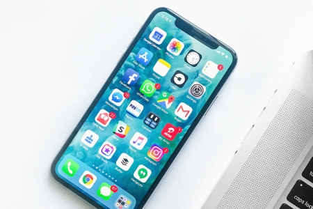 Facebook social media app on iPhone X